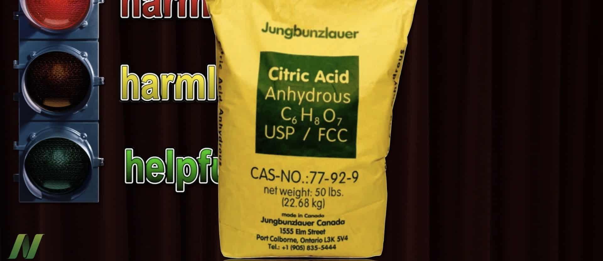Is Citric Acid Harmful?