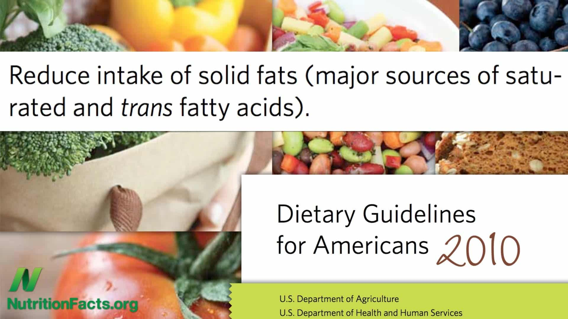 Dietary Guidelines- USDA conflicts of interest