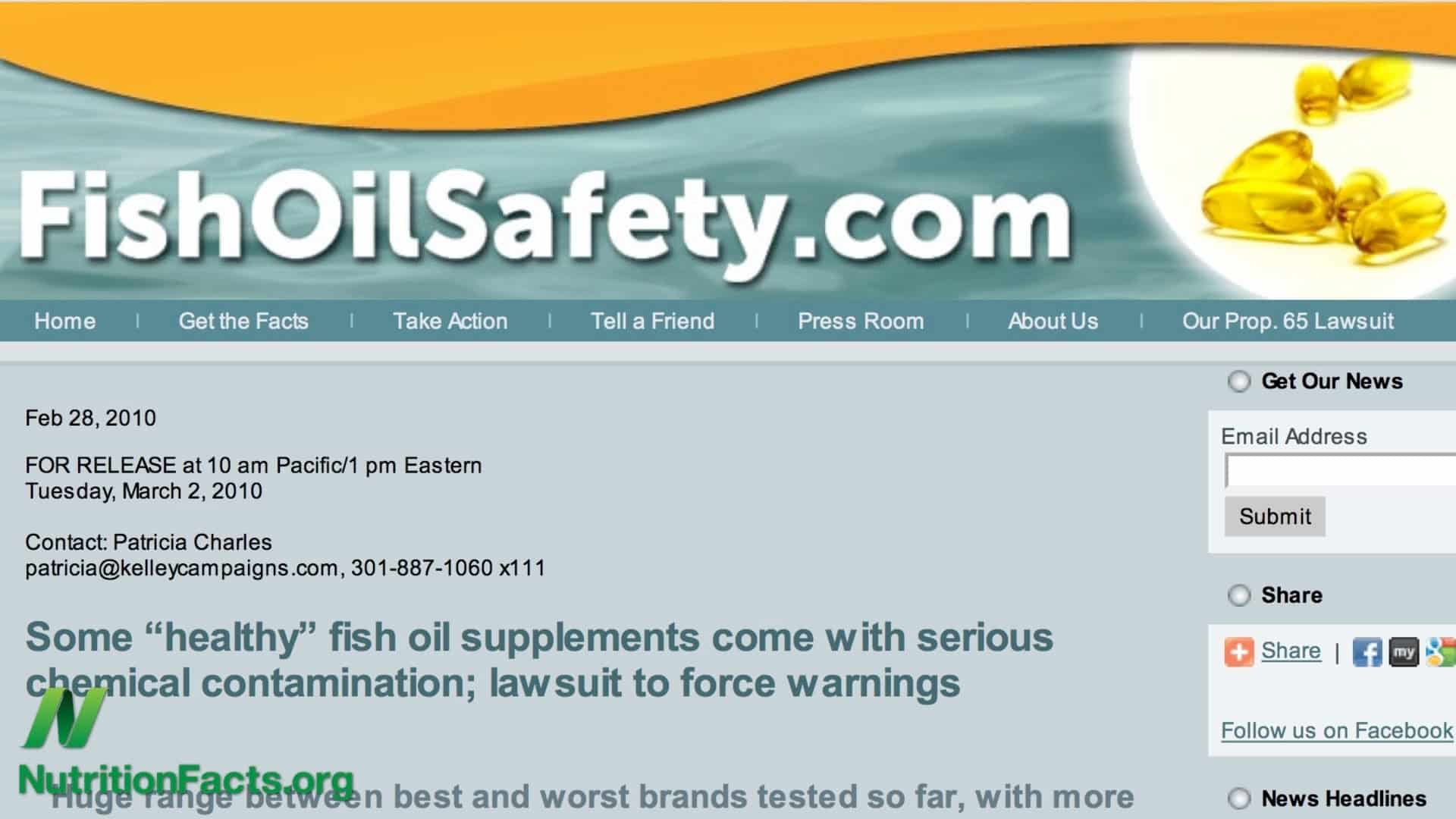 Fish Oil in Troubled Waters