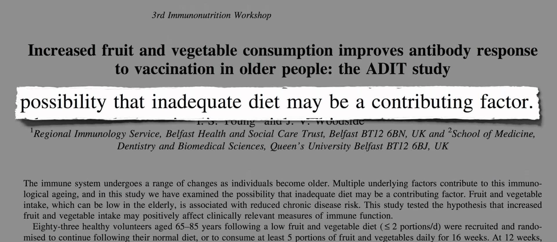 Boosting Immunity Through Diet