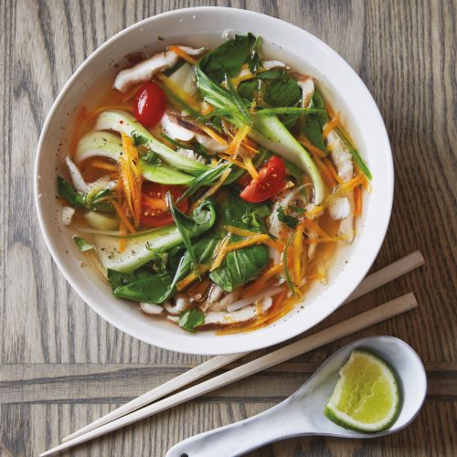 Calories in spicy asian vegetable soup for the
