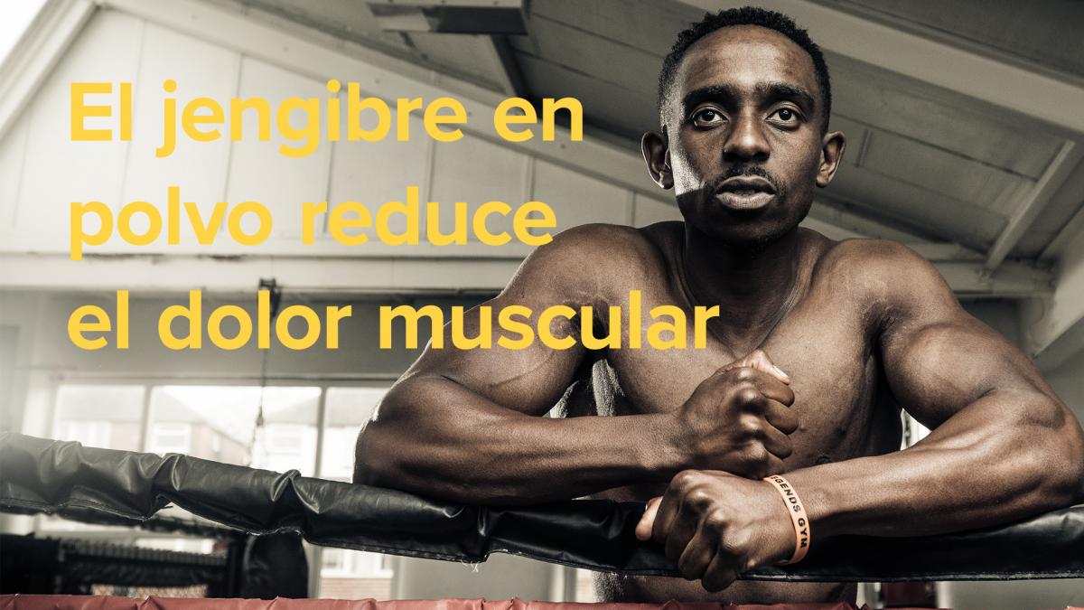 El jengibre en polvo reduce el dolor muscular