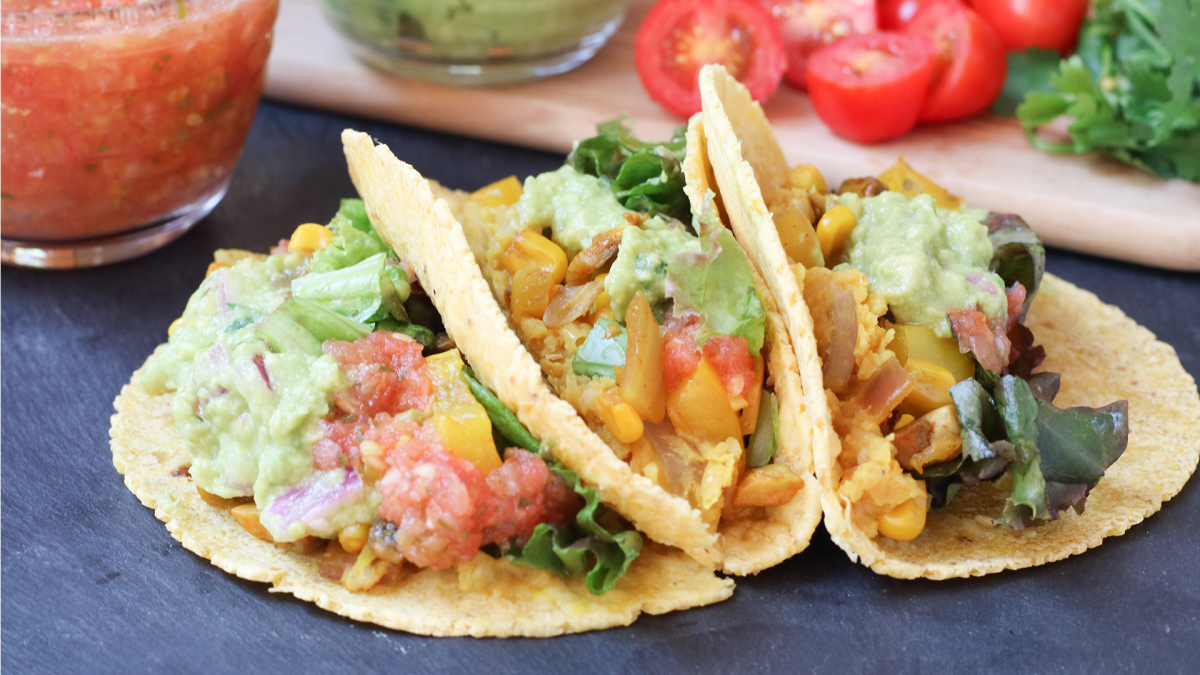 Recipe: Easy Veggie Tacos ?>