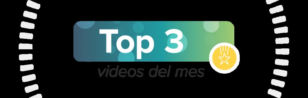 """En la imagen pone: """"Top 3 videos del mes""""."""