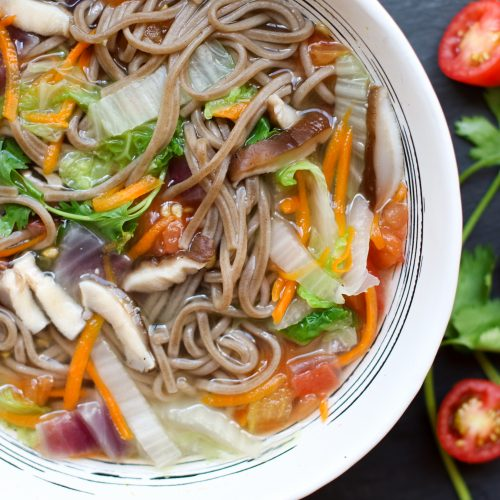 NutritionFacts Soba Noodle Soup Recipe