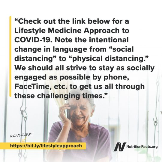 Lifestyle Medicine Approach to COVID-19