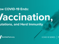 How COVID-19 Ends- Vaccination, Mutations, and Herd Immunity