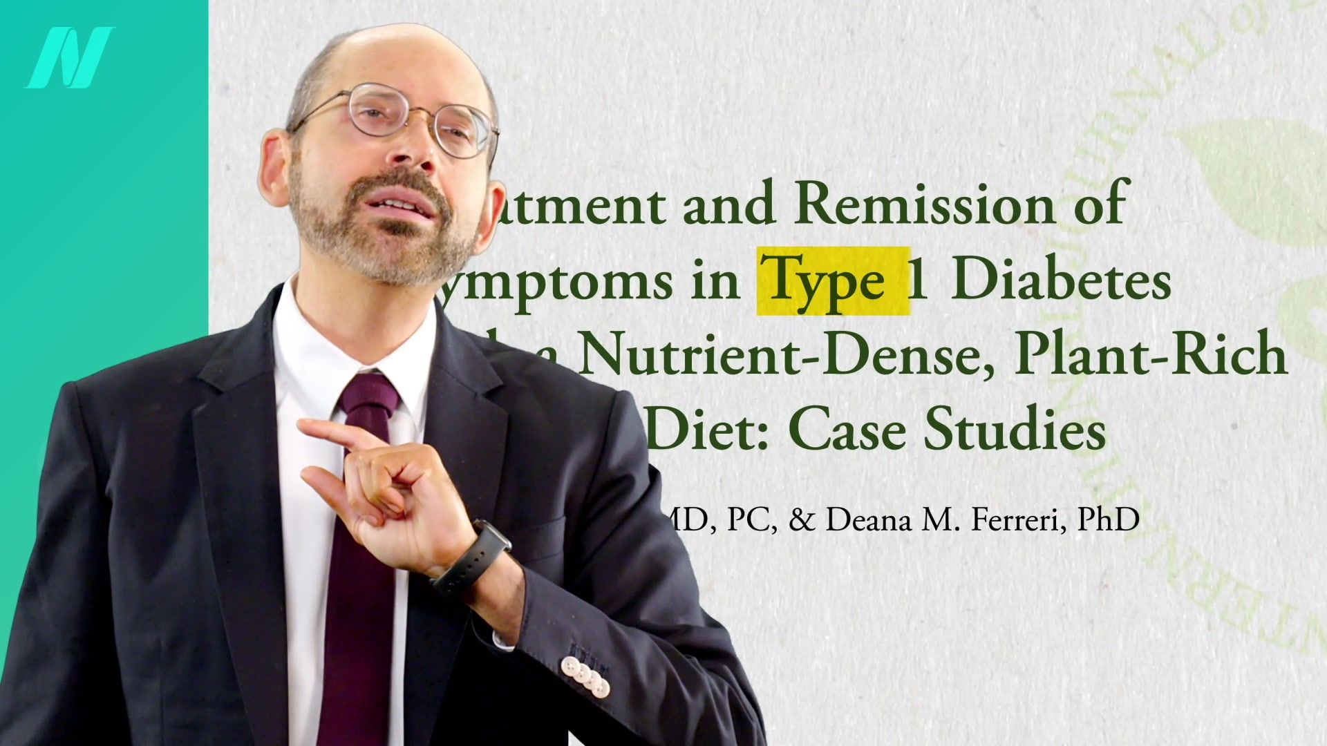 Type 1 Diabetes Treatment- A Plant-Based Diet